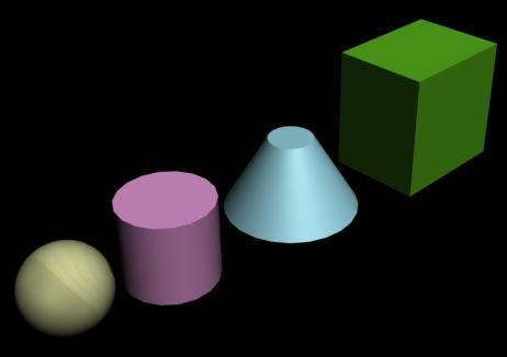 Рис. 9. Вид объектов после присвоения сфере материала
