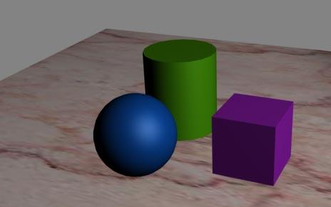 Рис. 20. Изменение освещенности объектов в результате изменения положения источника