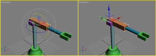 Рис. 19. Положение опорной точки: изначально (слева) и после перемещения (справа)