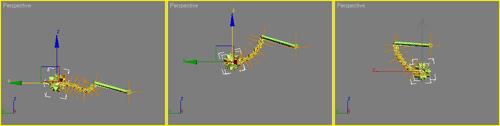 Рис. 16. Перемещение конечного эффектора после снятия ограничения на скольжение