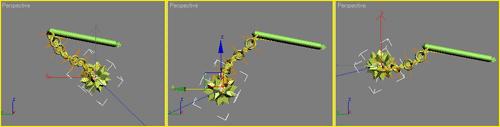 Рис. 17. Перемещение конечного эффектора после установки ограничений на вращение