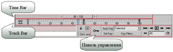 Рис. 1. Базовые панели для управления анимацией