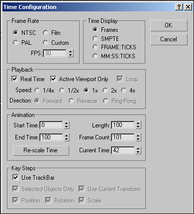 Рис. 2. Окно Time Configuration