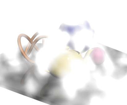 Рис. 22. Начальный вид сцены с объемным туманом