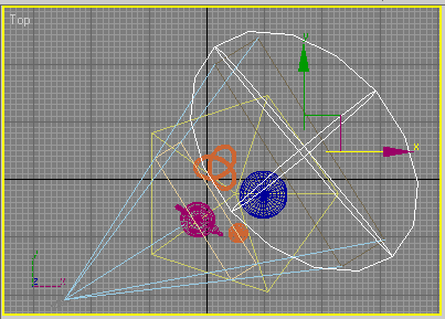 Рис. 26. Размещение объекта SphereGizmo