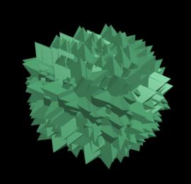 Рис. 15. Облако частиц, созданных на базе объекта-образца