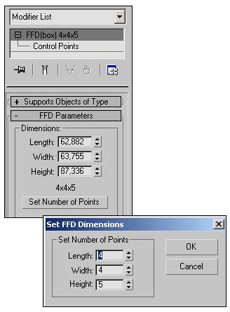 Рис. 7. Изменение параметров решетки