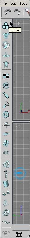 Рис. 2. Панель инструментов Reactor