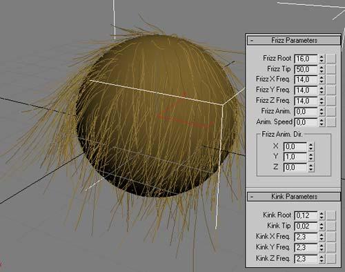 Рис. 17. Настройка параметров скрученности и спутанности волос
