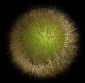 Рис. 5. Вид покрытого мехом шара с параметрами модификатора по умолчанию