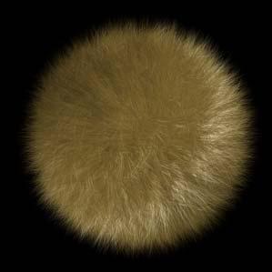 Рис. 7. Вид покрытого мехом шара после корректировки параметров