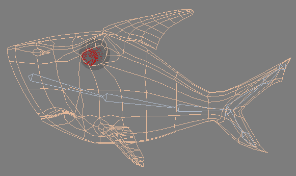Рис. 1. Пример системы костей, помещенной внутрь тела персонажа