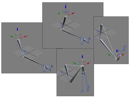 Рис. 17. Результат перемещения Root-кости до настройки пределов ограничений