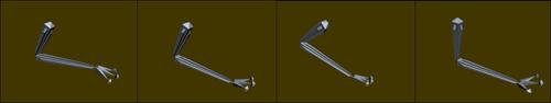 Рис. 22. Вид визуализированной системы костей при имитации некоторых видов движения