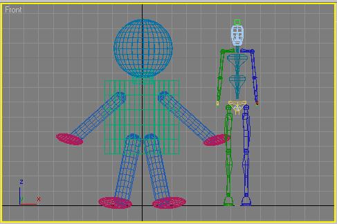 Рис. 14. Появление скелета