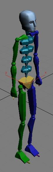 Рис. 2. Первоначальный вид скелета (тип Skeleton)