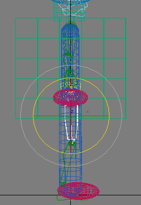 Рис. 22. Вращение правой бедренной кости в проекции Left