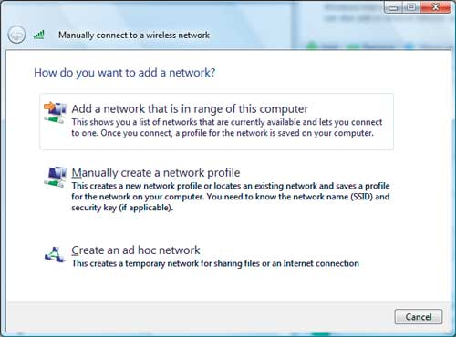 how to find network security key on vista