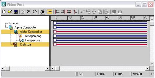 Рис. 25. Вид окна VideoPost после второго смешивания слоев