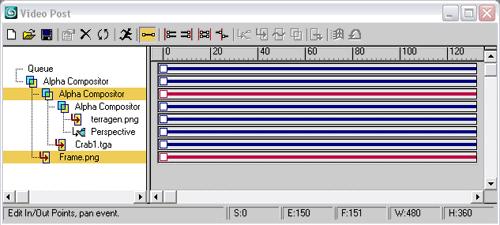 Рис. 30. Вид окна VideoPost после третьего смешивания слоев