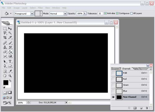 Рис. 32. Вид рамки с отключенным каналом RGB