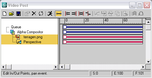 Рис. 7. Вид окна VideoPost после первого смешивания слоев
