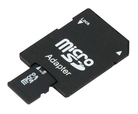 При помощи адаптера карточку microSD можно установить в полноразмерный SD-слот