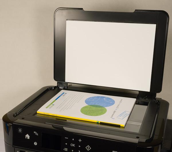 Крышку сканера можно зафиксировать в поднятом положении