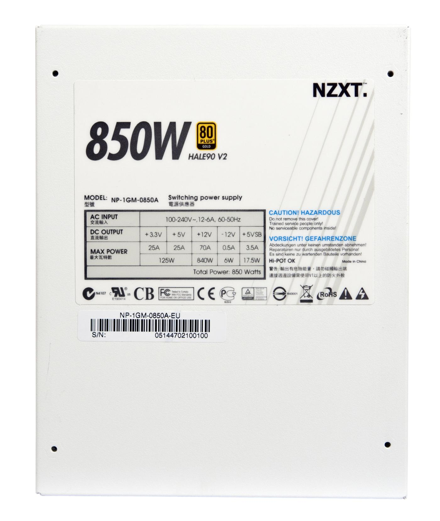 NZXT HALE90 V2 850