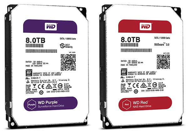 WD Red, WD Purple