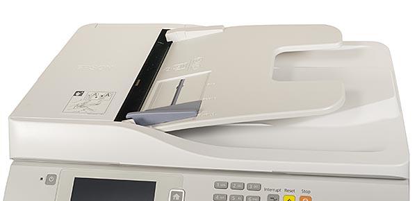 В крышку сканирующего модуля встроено устройство автоматической подачи оригиналов