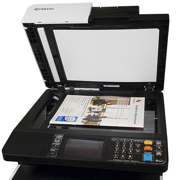 Размеры планшета позволяют сканировать  оригиналы размером до 216×297 мм
