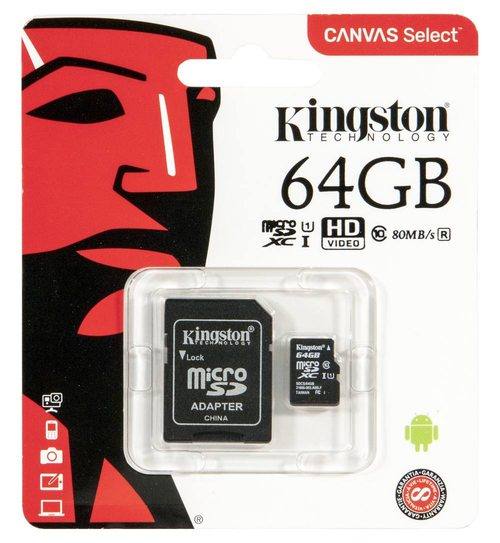 серия microSD-карт Kingston — Canvas
