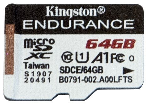 Карта памяти Kingston High Endurance microSD объемом 64 Гбайт